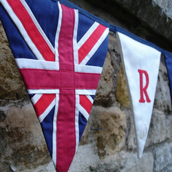 Bunting - Handmade Union Jack + Red, White and Blue Flags