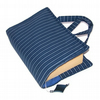 SALE HALF PRICE Book Cover Bag PINSTRIPE BLUES
