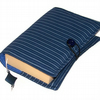 SALE HALF PRICE Fabric Book Cover PINSTRIPE BLUES