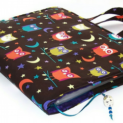 Ring Binder File Cover Bag in Night Owls