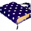 Book Bag Cover Purple Polka Dots - Gift for Grandparents Day