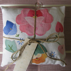 Vintage Upcycled Small Lavender Cushion