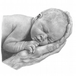 'Father and Child' Limited Edition Pencil Portrait Print