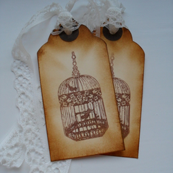 Sweet vintage style gift tags- set of 5