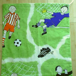 BOY'S DRAWSTRING BAG football, PE, toys COTTON