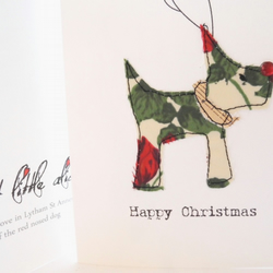 Christmas card liberty reindeer dog