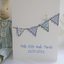 new baby or christening card boy or girl personalised