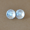 Silver Hammered Disc Earrings made with Sterling Silver