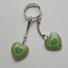 GREEN HEART KEY RING