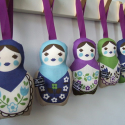 Lavender Russian Doll Hangy thingy - Wholesale x10