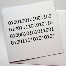 ILOVEYOU - binary code greeting valentine card - geek