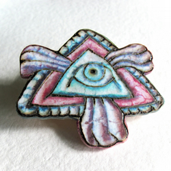 Wooden Badge - 'The Eye'