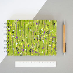 B6 'Woodland Butterflies' Japanese Silkscreened Notebook, Eco Friendly Paper, Sm