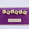 Scrabble Birthday card in 30, 40, 50, 60, 70 80 and 90