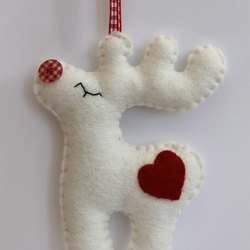 Christmas Rudolph - Felt Decoration