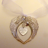 "Platinum Remembrance ""A Piece of my Heart is in Heaven"" Hanging Charm Gift"
