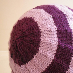 Striped slouchy beret