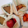 Strong Reusable produce bags, veggie bags, dry beans bags, Pack of 5