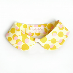 Peter Pan Collar Mustard Retro Bubbles