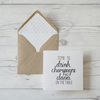 Time to Drink Champagne and Dance on the Table, hand lettered birthday card