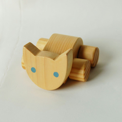 Wooden cat on wheels. Push along toy, Simple cat toy. Nursery toy