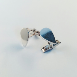 Sterling silver teardrop cufflinks