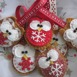 Christmas little owl decoration