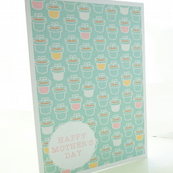 Plant Pots Pattern Mother's Day Card