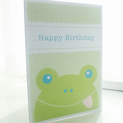 Personalised Frog Children's Birthday Card