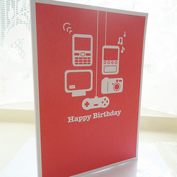 Personalised Technology Birthday Card
