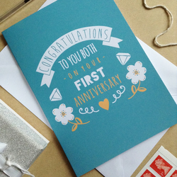 First Wedding Anniversary Card