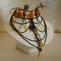 Autumn Amber, Unique Handcrafted Choker.