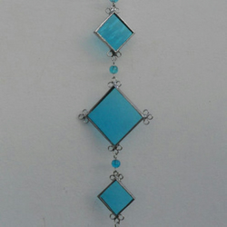 November Birthstone Suncatcher -  Blue Topaz Stained Glass