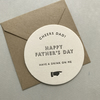 Letterpress Beer Mat Father's Day Card