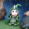 "Tiny Gnome Maiden 'Ginny' 1.5"" OOAK Sculpt by Ann Galvin"