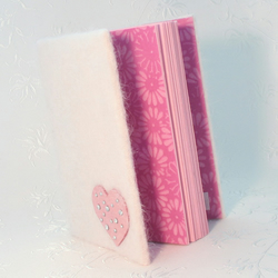 Cute Little Felt Covered Note Book