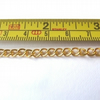 1 Metre Gold Plated Curb Chain