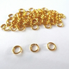 80 x Gold Plated Jump Rings 6mm