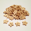 50 wooden star buttons 13mm