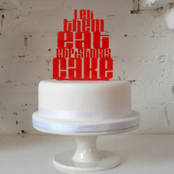 'Let Them Eat Christmas Cake' Cake Topper