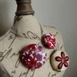 Fabric Button Badge