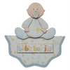 New Baby Boy Wavy Edge 3D Decoupage Card Baby Shower Birth Congratulations