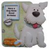 Dog Lovers 3D Decoupage Card with Various Options, Birthday, Get Well Soon, etc.
