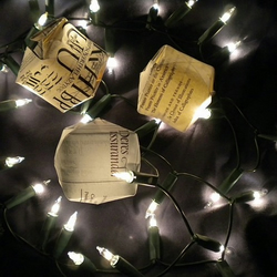 Calligraphy fairy light shades