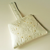 Silk and Vintage Lace Wedding Bag