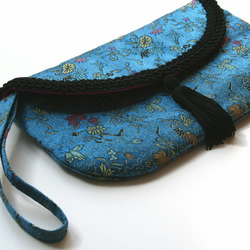 Clutch Bag 'Blue Brocade'