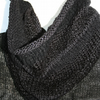 Black Knitted Cowl or Snood