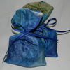 Two Hand-Painted Silk Lavender Bags