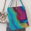 RESERVED FOR GERALDINE: 'Reflection' Hand-Painted Silk Bag