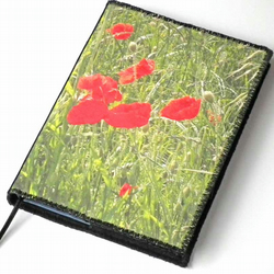 A6 Notebook Cover, South Downs Poppies, Photo-Art, Lined Notebook